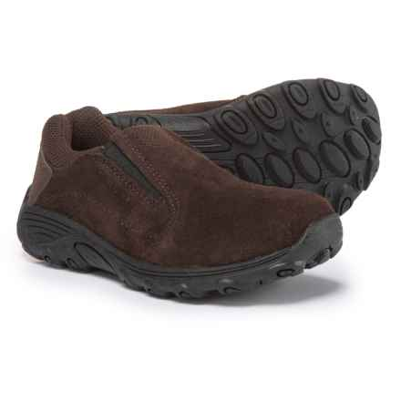 Merrell Novica Suede Shoes - Slip-Ons (For Boys) in Brown - Closeouts
