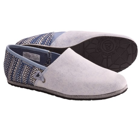 Merrell Oleander Shoes - Canvas, Slip-Ons (For Women) in Silver Lining