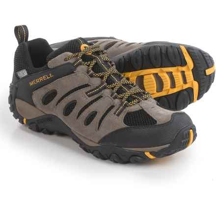 Merrell Onvoyer Hiking Shoes - Waterproof (For Men) in Boulder/Old Gold - Closeouts