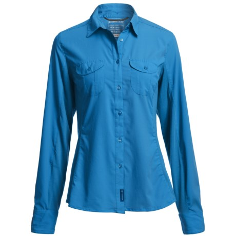 Merrell Ophelia Shirt - UPF 30+, Long Sleeve (For Women) in Sea Shore