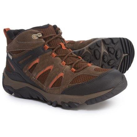134e0af7e10 Merrell Outmost Mid Vent Hiking Boots - Waterproof (For Men) in Slate Black  -
