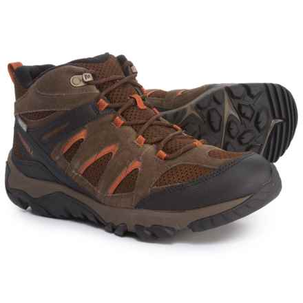 Merrell Outmost Mid Vent Hiking Boots - Waterproof (For Men) in Slate Black - Closeouts