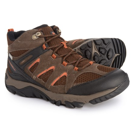 d6bb6a99f4 Merrell Outmost Mid Vent Hiking Boots - Waterproof (For Men) in Slate Black  -