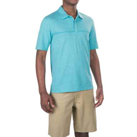 Merrell Pasco 2.0 Polo Shirt - Short Sleeve (For Men) in Shoreline Heather - Closeouts