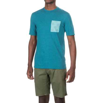 Merrell Pasco Printed Pocket Shirt - Short Sleeve (For Men) in Celestial Heather - Closeouts