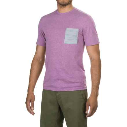 Merrell Pasco Printed Pocket Shirt - Short Sleeve (For Men) in Hyacinth V Heather - Closeouts
