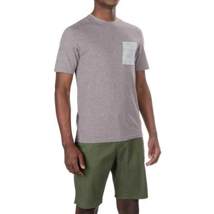 Merrell Pasco Printed Pocket Shirt - Short Sleeve (For Men) in Manganese Heather - Closeouts