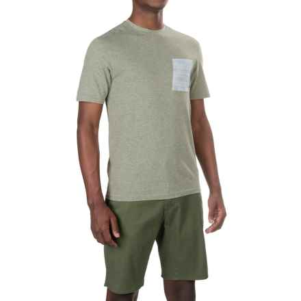 Merrell Pasco Printed Pocket Shirt - Short Sleeve (For Men) in Putty Heather - Closeouts