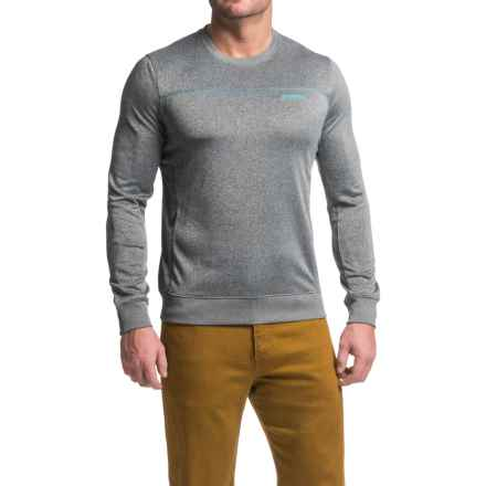 Merrell Passport Shirt - Long Sleeve (For Men) in Black Heather - Closeouts
