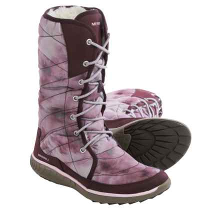 Merrell Pechora Peak Winter Boots (For Women) in Burgundy - Closeouts