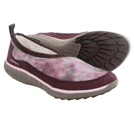 Merrell Pechora Wrap Shoes - Slip-Ons (For Women) in Burgundy - Closeouts