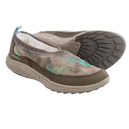 Merrell Pechora Wrap Shoes - Slip-Ons (For Women) in Taupe - Closeouts