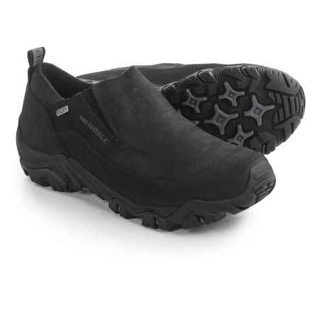 Merrell Polarand Rove Moc Shoe - Waterproof, Insulated, Leather (For Men) in Black - Closeouts