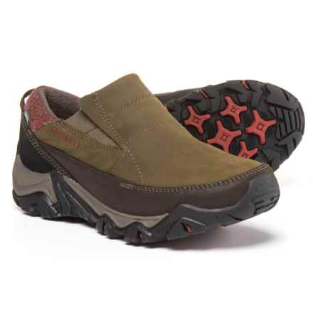 Merrell Polarand Rove Moc Shoes - Waterproof, Insulated, Leather (For Women) in Black Slate - Closeouts