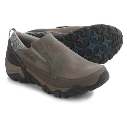 Merrell Polarand Rove Moc Shoes - Waterproof, Insulated, Leather (For Women) in Boulder - Closeouts