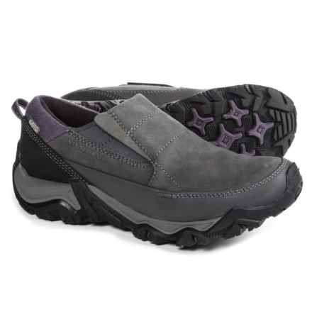 Merrell Polarand Rove Moc Shoes - Waterproof, Insulated, Leather (For Women) in Granite - Closeouts