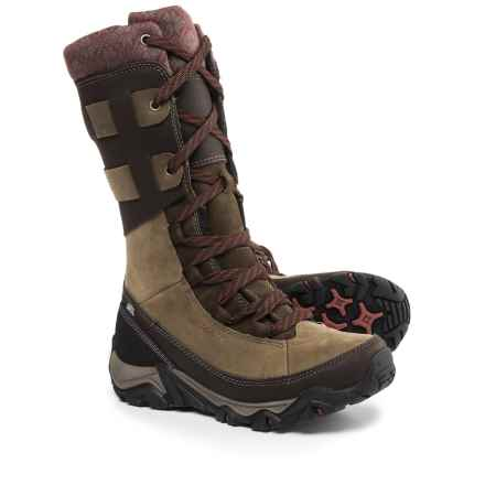 Merrell Polarand Rove Peak Leather Snow Boots - Waterproof, Insulated (For Women) in Black Slate - Closeouts