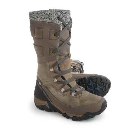 Merrell Polarand Rove Peak Leather Snow Boots - Waterproof, Insulated (For Women) in Boulder - Closeouts