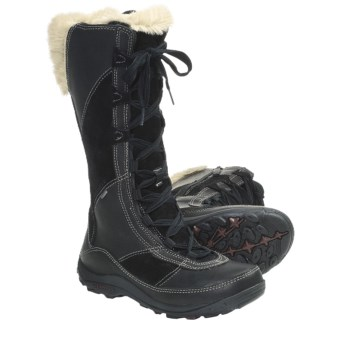 Merrell Prevoz Snow Boots - Insulated, Suede-Leather (For Women) in Black