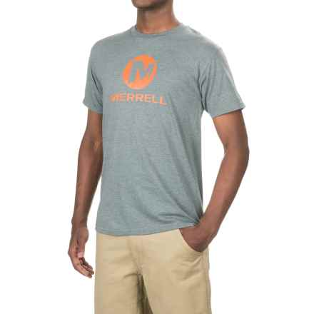 Merrell Pride Graphic T-Shirt - Short Sleeve (For Men) in Athletic Grey - Closeouts