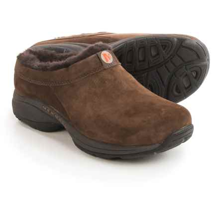 Merrell Primo Chill Slide Shoes - Suede, Wool Lined (For Women) in Chocolate Brown - Closeouts