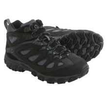 Merrell Pulsate Mid Hiking Boots - Waterproof, Leather (For Men) in Black/Castle Rock - Closeouts