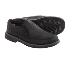 Merrell Realm Haza Moc Shoes - Nubuck (For Men) in Black - Closeouts