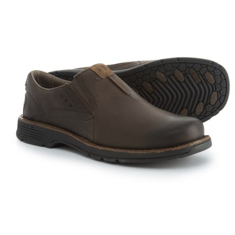 Merrell Realm Leather Shoes - Slip-Ons (For Men) in Chocolate