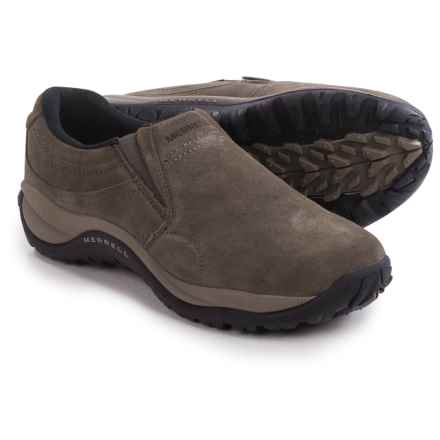 Merrell Reflex Coast Moc Shoes - Leather, Slip-Ons (For Men) in Boulder - Closeouts