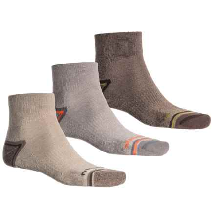 Merrell Repreve® Hiking Socks - 3-Pack, Ankle (For Men) in Brindle Marl - Closeouts