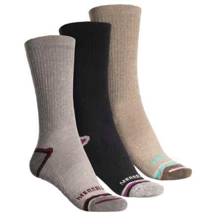 Merrell Repreve® Hiking Socks - 3-Pack, Crew (For Women) in Brindle Marl - Closeouts