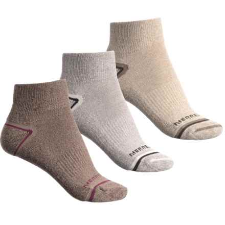 Merrell Repreve® Hiking Socks - 3-Pack, Quarter Crew (For Women) in Coffee Marl - Closeouts