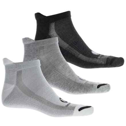 Merrell Repreve® Low Heel Tab Socks - 3-Pack, Ankle (For Men) in Grey Heather - Closeouts