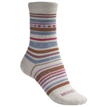 Merrell Ribbon Crew Socks - Lightweight (For Women) in Natural - 2nds