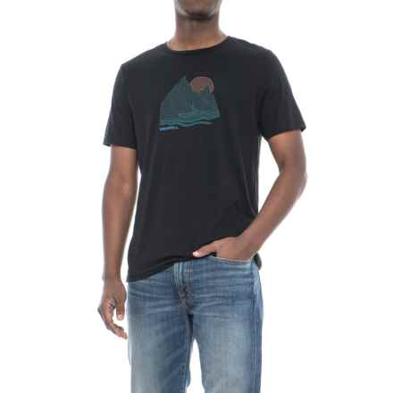 Merrell Rill T-Shirt - Short Sleeve (For Men) in Black Solid - Closeouts