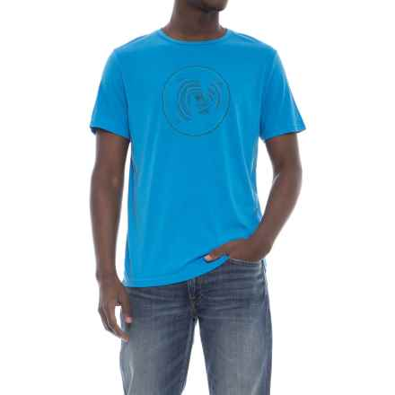 Merrell Rings T-Shirt - Short Sleeve (For Men) in Sea Shore - Closeouts
