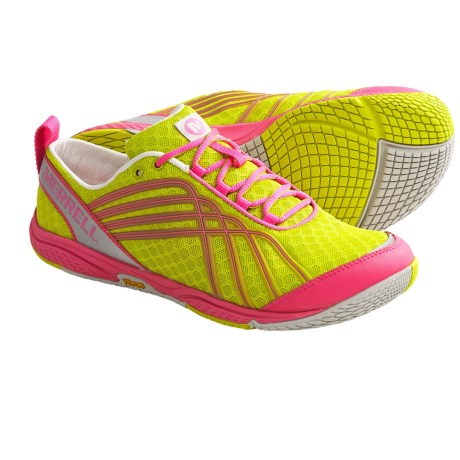 Merrell Road Glove Dash 2 Running Shoes - Minimalist (For Women) in Yellow/Pink