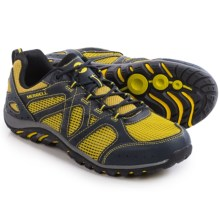 Merrell Rockbit Cove Hiking Shoes (For Men) in Navy/Yellow - Closeouts