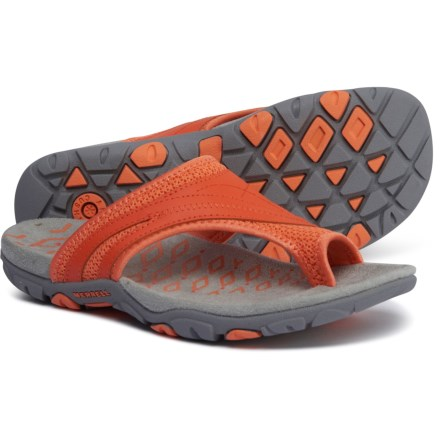19a3dd58688a Merrell Sandspur Delta Flip-Flops (For Women) in Tigerlilly Melon