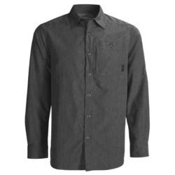 Merrell Sarawak Chambray Shirt - UPF 30+, Roll-Up Long Sleeve (For Men) in Cinder