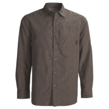 Merrell Sarawak Chambray Shirt - UPF 30+, Roll-Up Long Sleeve (For Men) in Cinder - Closeouts