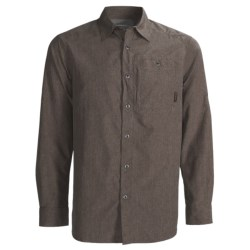 Merrell Sarawak Chambray Shirt - UPF 30+, Roll-Up Long Sleeve (For Men) in Cinder