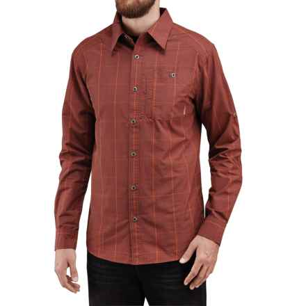 Merrell Sarawan Shirt - Roll-Up Long Sleeve (For Men) in Dark Rust - Closeouts