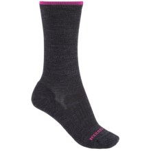 Merrell Scamper Solid Crew Socks - Merino Wool (For Women) in Dark Charcoal - Closeouts