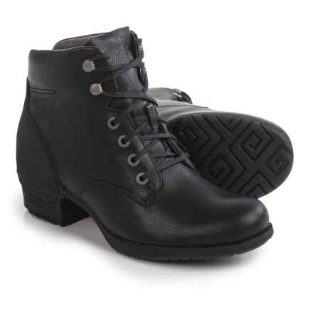 Merrell Shiloh Lace Boots - Leather (For Women) in Black - Closeouts