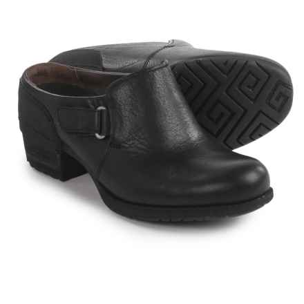 Merrell Shiloh Slip-On Clogs - Leather (For Women) in Black - Closeouts