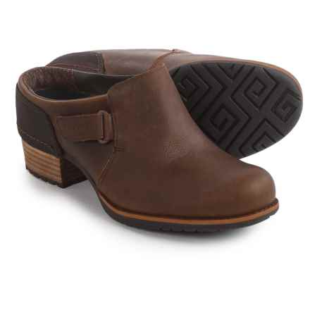 Merrell Shiloh Slip-On Clogs - Leather (For Women) in Oak - Closeouts