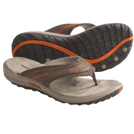 Merrell Sidekick Sandals - Flip-Flops (For Kids and Youth) in Dark Earth
