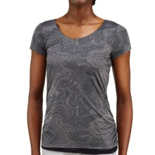 Merrell Siena Cinch T-Shirt - Short Sleeve (For Women) in Shadow Print - Closeouts