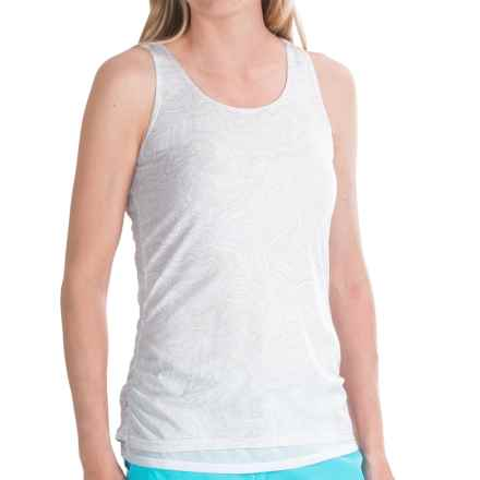 Merrell Siena Cinch Tank Top (For Women) in White Print - Closeouts